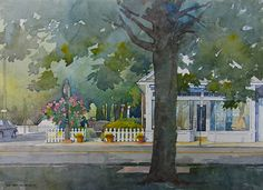 """Oxford Charm by Richard Sneary Watercolor ~ 10"""" x 14"""""""