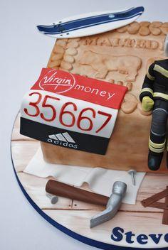 40th Birthday cake, firefighter
