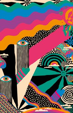 illustration art girl \ illustration art _ illustration art drawing _ illustration art vintage _ illustration art girl _ illustration art watercolor _ illustration art wallpaper _ illustration art black and white _ illustration art design Kunst Inspo, Art Inspo, Psychedelic Art, Psychedelic Pattern, Psychedelic Makeup, Trippy Painting, Painting Walls, Hippie Painting, Posca Art