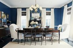Decorating Ideas For Blue And White Dining Room