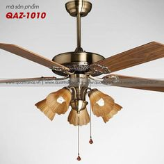 Quạt trần đèn trang trí cao cấp Mountain Air QAZ-1010
