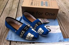 Doctor Who Tardis TOMS by RubiiShoos on Etsy