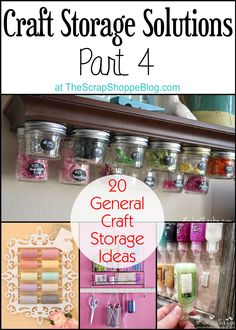 Share Tweet Pin Mail It's week 4 of Craft Storage Solutions! So far we've cover Fabric Storage, Thread & Bobbin Storage, and Scrapbook Paper ...