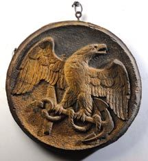 carved eagle - possible porthole cover