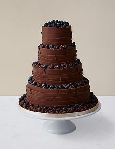 Chocolate Ribbons Wedding Cake Milk Chocolate | M&S