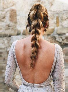 Trenza con coletas ♥️ Redhead Hairstyles, Bride Hairstyles, Korean Hairstyles, Current Hair Trends, Jasmine, Hair Hacks, Bridal Hair, Hair Inspiration, Hair Makeup