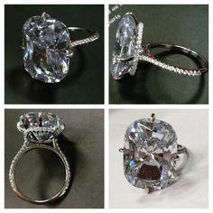 Kim Kardashian replica engagement ring on WWW.RSOLITAIRE.COM shop now!
