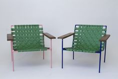 Eric Trine Rod and Weave Chairs Remodelista; http://www.remodelista.com/posts/woven-leather-chairs-from-eric-trine