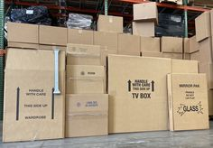 Here at uBoxes, we have a box for just about everything! Pack and store household items such as mirrors, paintings, TV's, clothing, mattresses, lamps, and even important paperwork! #COVID19 #ShopSmallBusiness #Boxes #HomeSweetHome #Storage #MovingCompany #MovingTips #MovingDay #Uhaul #Moving #NewHome #LastMile #HouseHunting #RealestateAgent #HomeDepot #DIY #ShopSmall #MoveToMiami #PackagingDesign #Realestate #MovingService #Packing #Realtor #Home #Relocation #ProfessionalMovers #SelfStorage #Co Cheap Moving Boxes, Large Moving Boxes, Glass Wardrobe, Wardrobe Boxes, Moving Supplies, Packing Supplies, Moving Kit, Moving To Miami, Kitchen Box
