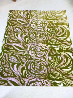 "Marimekko, Finland: Anneli Qveflander ""Baccara"" Vintage Fabric from 1968 - Issue #Marimekko #Floral"