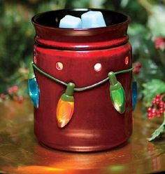 Holiday lights Scentsy Warmer 10% off during November
