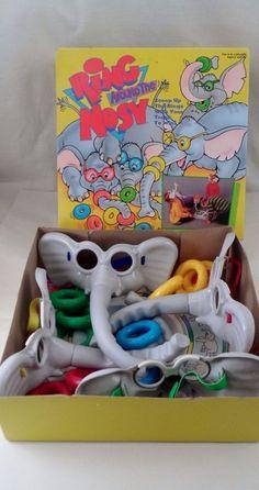Pressman ring around the nosy skill game elephant nose rings pressman