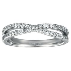 1/2CT Pave Cross Over Ring