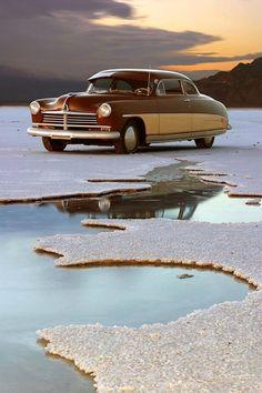 1949 Hudson at the Bonneville Salt Flats.