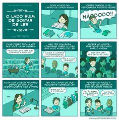 #16 - O lado ruim de gostar de ler | Quadrinhos Ácidos - MUITO verdade isso!!!