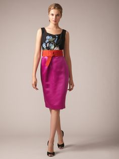 Silk Satin Two Face Fold Dress by Carolina Herrera on Gilt