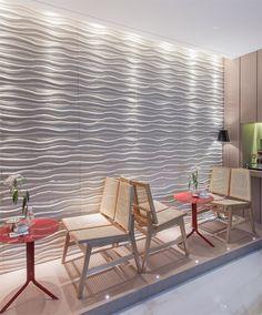 Duna Paris branco - Mostra Aracaju 2014 - Arquiteto Allan Gustavo Santos - Foto: Martha Oliveira. Ambiente Lounge Gourmet, em parceria com a revenda Empório Casa. #Castelatto #MostraAracaju