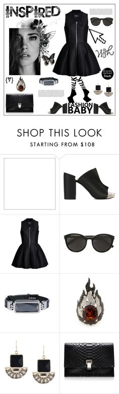 """Fashion inspired"" by zabead ❤ liked on Polyvore featuring Pointer, Robert Clergerie, Yves Saint Laurent, Altruis by Vinaya, Garrard, Marni, Proenza Schouler, chic, MyStyle and polyvorestyle"