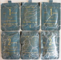 *Vintage US Military Decontamination Wipes - New but old Stock -1983 - Lot of 6