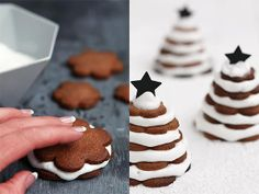 DIY Gingerbread Christmas Trees