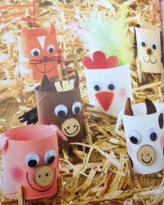 Diy for kids, crafts for kids, farm animals, farm crafts, diy Farm Animal Crafts, Farm Crafts, Animal Crafts For Kids, Animals For Kids, Farm Animals, Diy For Kids, Kids Crafts, Diy And Crafts, Farm Day