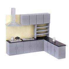 Dollhouse Kitchen miniature Furniture ventilator cupboard Cabinet set G Scale