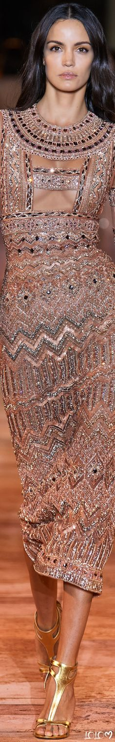 Zuhair Murad Stunning Blush Metallic Gown #ZuhairMurad #Runway #Glamour #Gowns Zuhair Murad, Fabulous Dresses, Beautiful Gowns, Pretty Dresses, Evening Dresses, Formal Dresses, Formal Wear, All Fashion, Fashion Trends