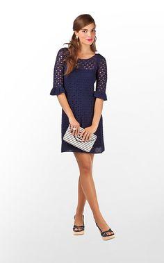Shauna Tunic in True Navy Starboard Crochet $188 (w/o 5/12/12) #lillypulitzer #fashion #style