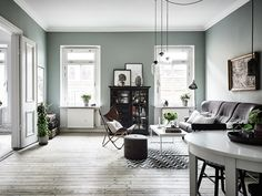Remarkable Deco Chambre Vert De Gris that you must know, You're in good company if you're looking for Deco Chambre Vert De Gris Decor, Living Room Green, Gravity Home, Home Wall Colour, Interior, Home, Living Room Decor, House Interior, Interior Design