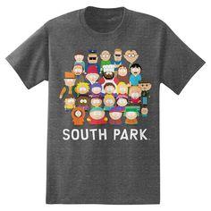 South Park Men's T-Shirt Charcoal Heather M, Black