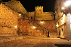 CACERES Portugal, Holiday Places, Cities, All Over The World, Lush, Explore, Night, Architecture, Buildings