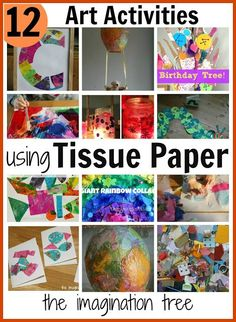 12 Art Activities Using Tissue Paper The Imagination Tree intended for Tissue Paper Crafts For Kids. How to Make Paper Crafts for kids, Easy Paper Crafts For Toddlers Tissue Paper Crafts, Paper Crafts For Kids, Easy Crafts For Kids, Arts And Crafts Projects, Toddler Crafts, Projects For Kids, Art For Kids, Crafts Toddlers, Simple Crafts
