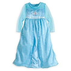 Disney Elsa Nightgown for Girls - Frozen | Disney StoreElsa Nightgown for Girls - Frozen - She'll drift to dreamy adventures every night wearing Elsa's soft satin gown with sheer, shimmering organza sleeves, decolletage, and glittering overlay skirt, plus embroidered snowflake detailing.
