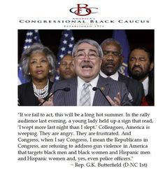 Congressional Black Caucus Head Rep. Butterfield Blames Republicans for Gun Violence after Dallas Police Shootings