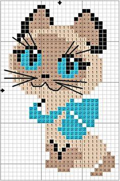 Mini-chat au point de croix...