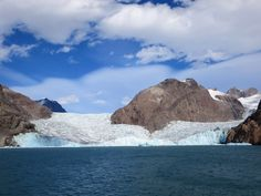 An arm of Prins Christian South ends at this huge glacier just northeast of Aappilattoq, Greenland.
