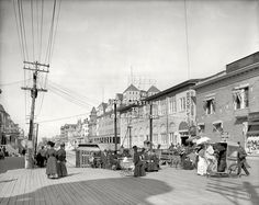 Atlantic City circa 1908. Virginia Avenue from the Boardwalk.