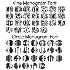 Custom Vinyl Monogram