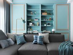 Two Beautiful Blue Interiors