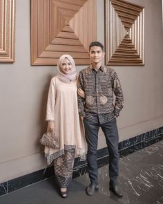 Open p.o batik couple . Kebaya Muslim, Batik Muslim, Kebaya Modern Hijab, Kebaya Hijab, Kebaya Dress, Muslim Dress, Hijab Dress, Batik Kebaya, Dress Style Pakistani