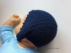 Con hilos, lanas y botones: DIY cómo hacer una capota a punto bobo para bebé paso a paso (patrón gratis) Baby Hats Knitting, Knitted Hats, Crochet Hats, Lana, Beanie, Diy Crafts, Amelia, Fashion, Medicine