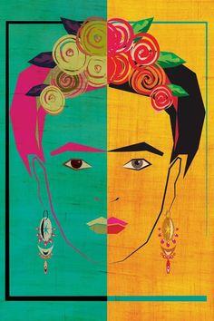 Frida E Diego, Frida Art, Canvas Artwork, Canvas Wall Art, Canvas Prints, Art Prints, Latin Decor, Frida Paintings, Art Paintings