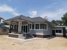 Check These 5 Bungalow House Design Before Building Your Own Simple Bungalow House Designs, Small Cottage Designs, Modern Bungalow House, Rural House, Cool House Designs, House Floor Design, Design Your Dream House, Small House Design, Philippines House Design