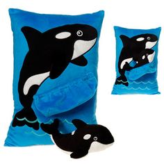 Pocket Pillow Pals Blue Orca