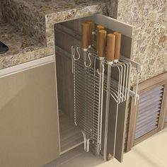 Kitchen Island Ideas with Seating & Storage Outdoor Storage Cabinet, Outdoor Garden Sink, Small Room Bedroom, Kitchen, Home, Outdoor Kitchen, Home Deco, Home Decor, Rustic Kitchen