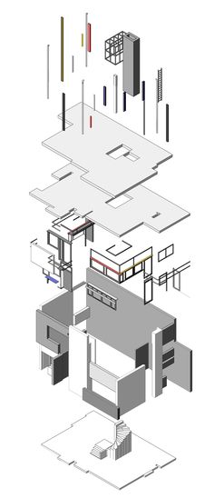 rietveld-schroder house exploded