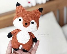 Amigurumi crochet pattern by HainChan on Etsy Bunny Crochet, Cute Crochet, Crochet Dolls, Crochet Toys Patterns, Amigurumi Patterns, Stuffed Toys Patterns, Anne Green, Cat Amigurumi, Handmade Toys