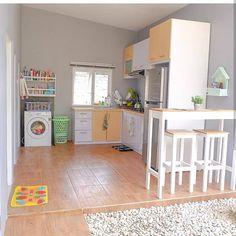 Dirty Kitchen Design, Kitchen Room Design, Home Room Design, Home Decor Kitchen, Kitchen Furniture, Kitchen Interior, Home Interior Design, Minimalist House Design, Minimalist Kitchen