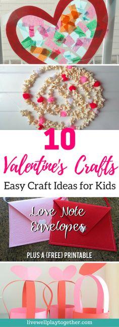 10 Valentine's Day Crafts for Kids | Easy Crafts | Preschool Crafts | Toddler Crafts
