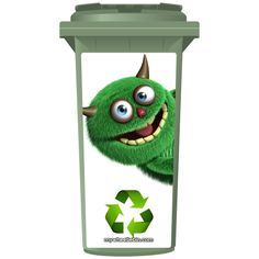 The Shaggy Recycling Monster Wheelie Bin Sticker Panel - All the great wheelie bin sticker panels we manufacture here at mywheeliebin.